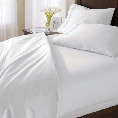 Bộ drap mền cotton trắng ANITA bo drap men cotton trang2 1