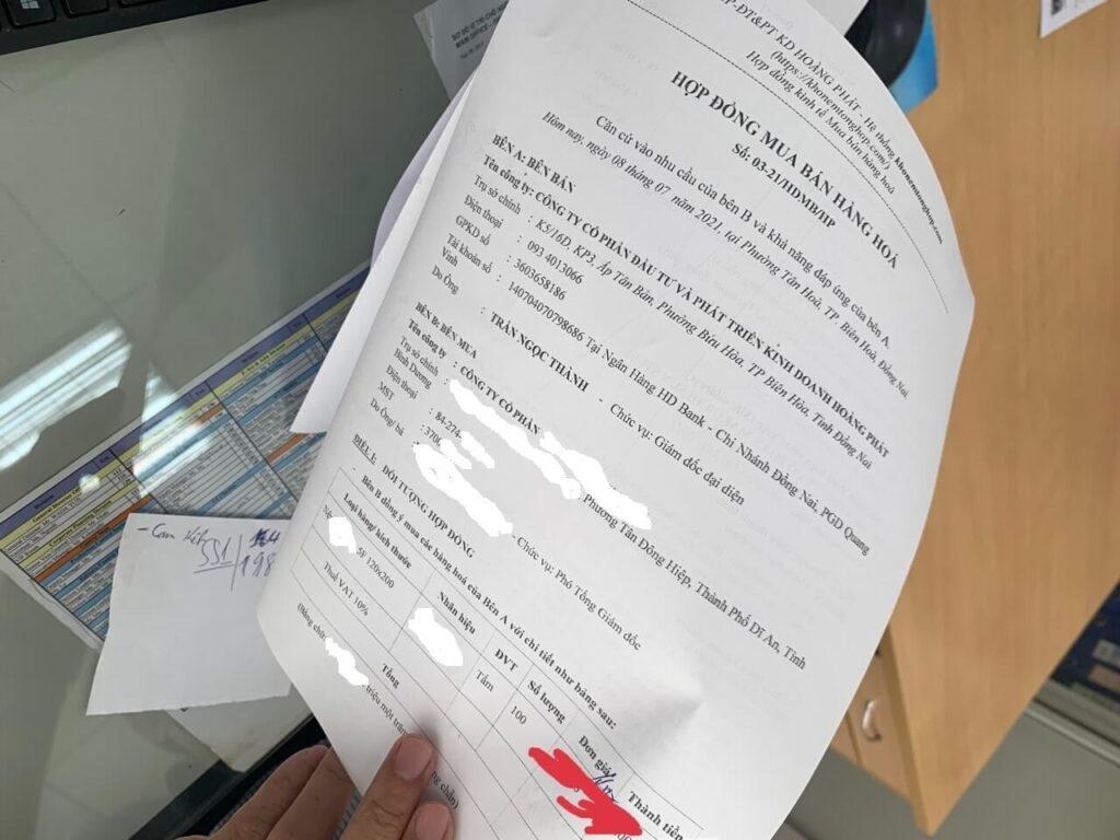 Kho Nệm Tổng Hợp Đồng Hành Cùng Các Đối Tác Chống Dịch Với Đơn Hàng Ưu Đãi 100 Tấm Nệm hop dong mua hang 1